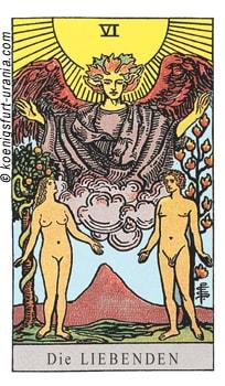 Die Liebenden Tarotkarte