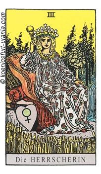 Tarotkarte die Herrscherin