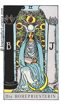 Tarotkarte die Hohenpriesterin